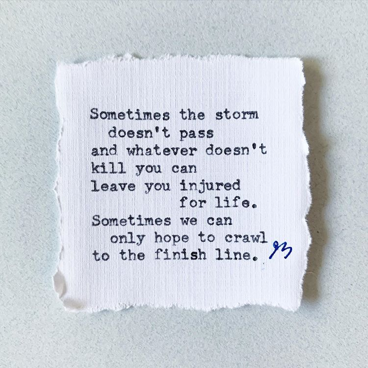 sometimes storm doesnt pass